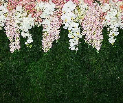 Amazon Floral Green Wedding Scene Photo Background White Pink