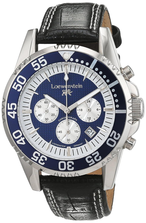 LÖwenstein Herren-Armbanduhr Analog Automatik Leder LO-HQ22015-912BL