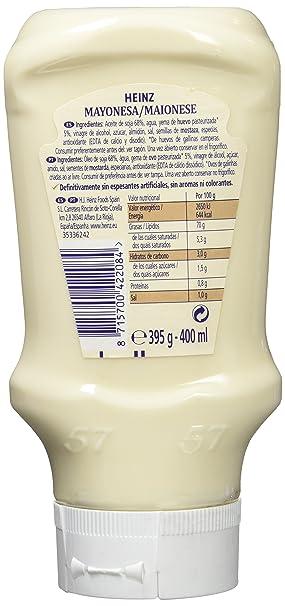 Heinz Salsa Mayonesa Plastico Top Down - 400 ml: Amazon.es: Amazon Pantry