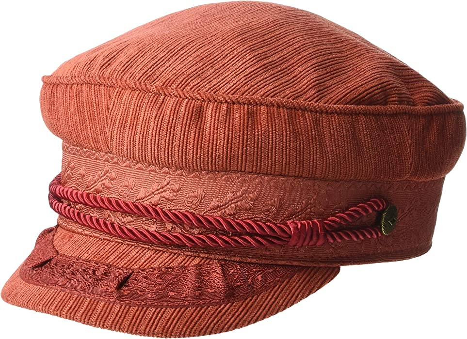 2ff836a0 Brixton Women's Albany Cap Red Clay LG (7 1/2) at Amazon Women's ...