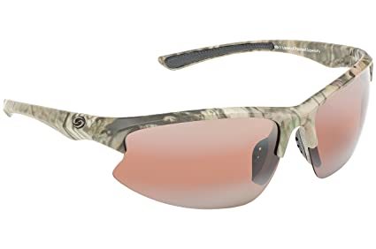 06a89c53460 Strike King S11 Optics Mossy Oak Camo Semi Rimless Frame Sunglasses with  Polarized Dark Amber Brown