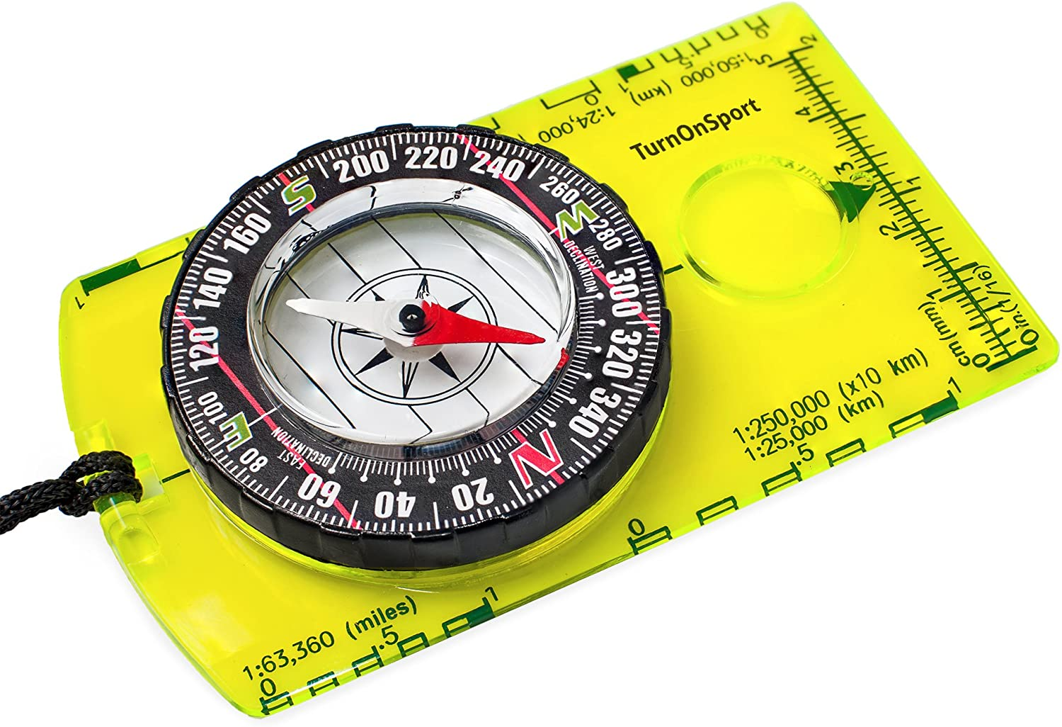 Orienteering Compass - Hiking Backpacking Compass - Advanced Scout Compass for Camping and Navigation - Boy Scout Compass for Kids - Professional Field Compass for Map Reading - Best Survival Gifts : Sports & Outdoors