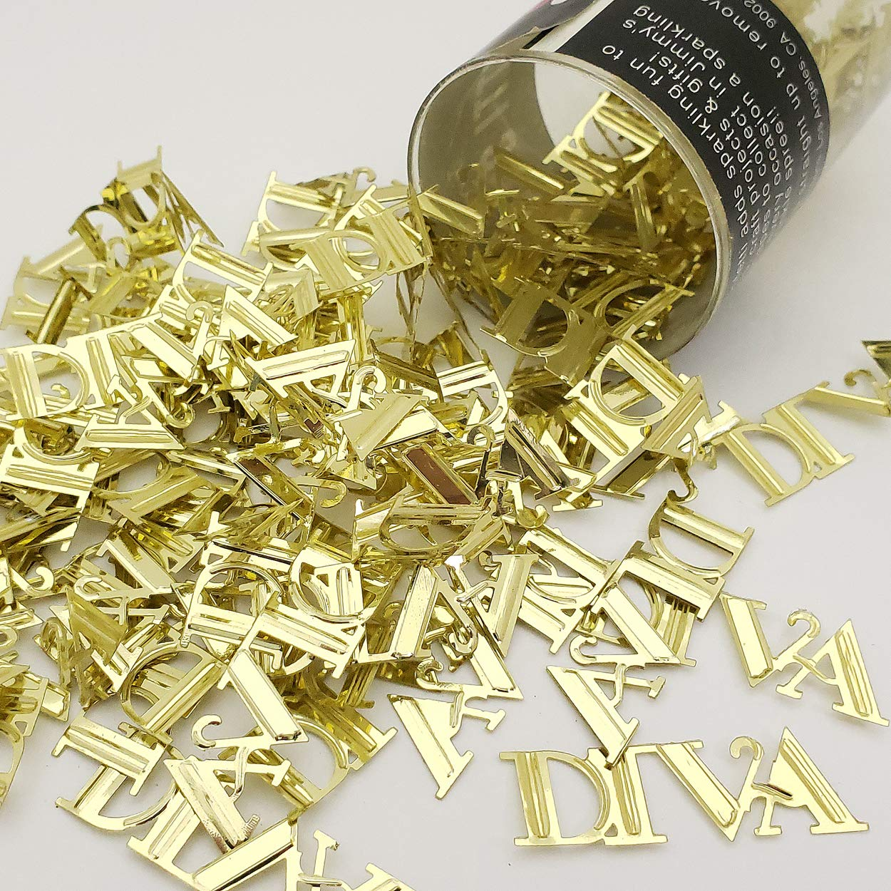 Confetti Word Diva Gold - One Pound (16 oz) Free Priority Mail (7715)