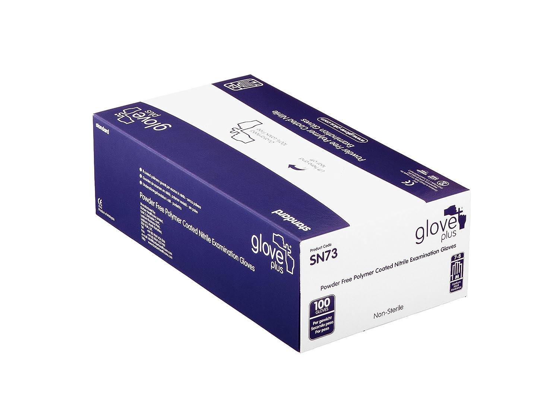 Handschuh Plus Standard puderfrei Nitril Untersuchungshandschuhe 100Handschuhe, groß, blau