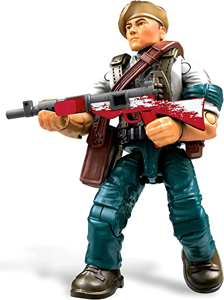 Amazon Com Mega Construx Call Of Duty Wwii Resistance Fighter Toys Games