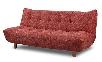 meilleur pas cher 8ae39 b029f Meubletmoi Canapé Rouge 3 Places Convertible lit - Banquette système Facile  clic-clac - Moelleux et Confortable - Maya