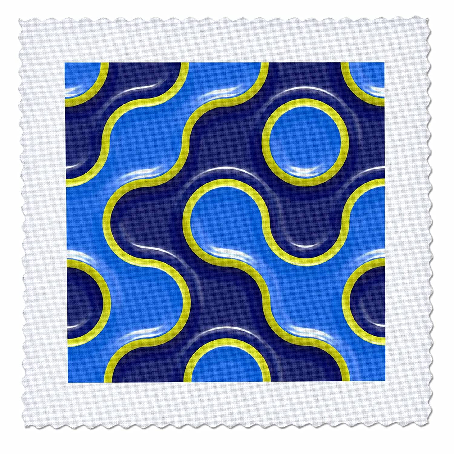 3dRose Sven Herkenrath Art - Interestingly Shaped Light and Dark Blue Abstract Pattern - 20x20 inch quilt square (qs_280425_8)