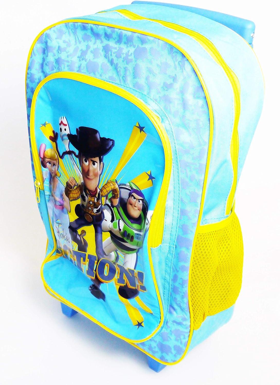 Sac /à dos /à roulettes pour enfant avec personnage Bleu Action Toy Story moyen