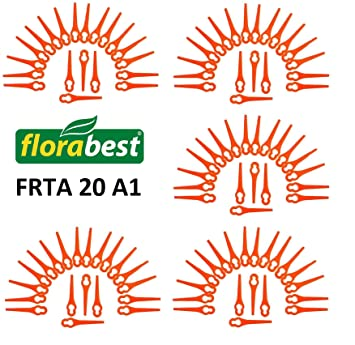 100 cuchillas de repuesto para Florabest, de Lidl, desbrozadora a batería FRTA 20 A1, IAN 282232: Amazon.es: Jardín