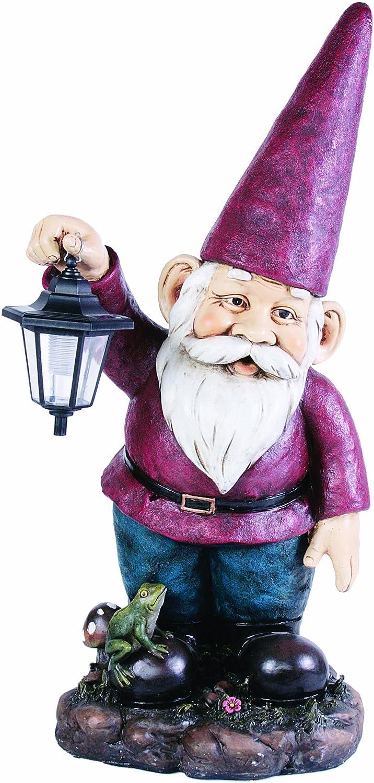 Amazon.com : Kelkay 4812 Giant Solar Lantern Gnome : Outdoor Statues :  Garden U0026 Outdoor