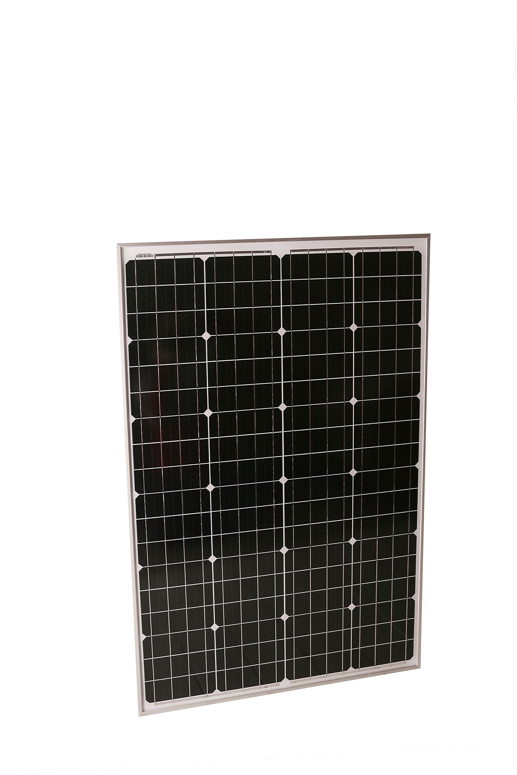 Solmida 100 Watt Monocrystalline Solar Panel | RV, Van, Camping, Boat, Prepper, Survival | Charge 12V Batteries, Outdoor High-Efficiency Energy | Snow, High Wind and Weather Resistant