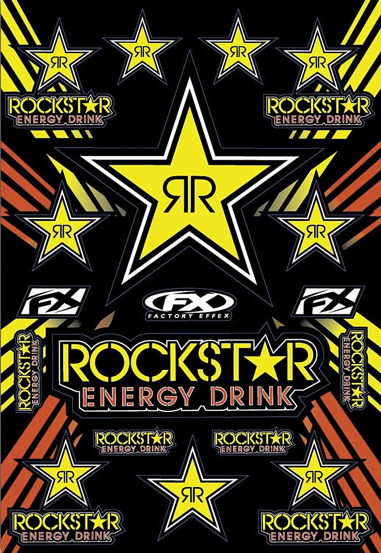 Rockstar Yellow Sticker Kit, Manufacturer: Factory Effex, ROCKSTAR ENERGY STICKER KIT