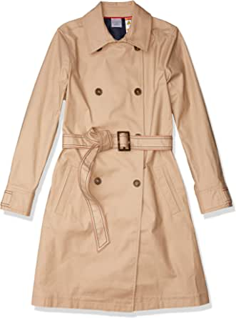Tommy Hilfiger Women's Adaptive Trench Coat with Magnetic Closure, Travertine-PT