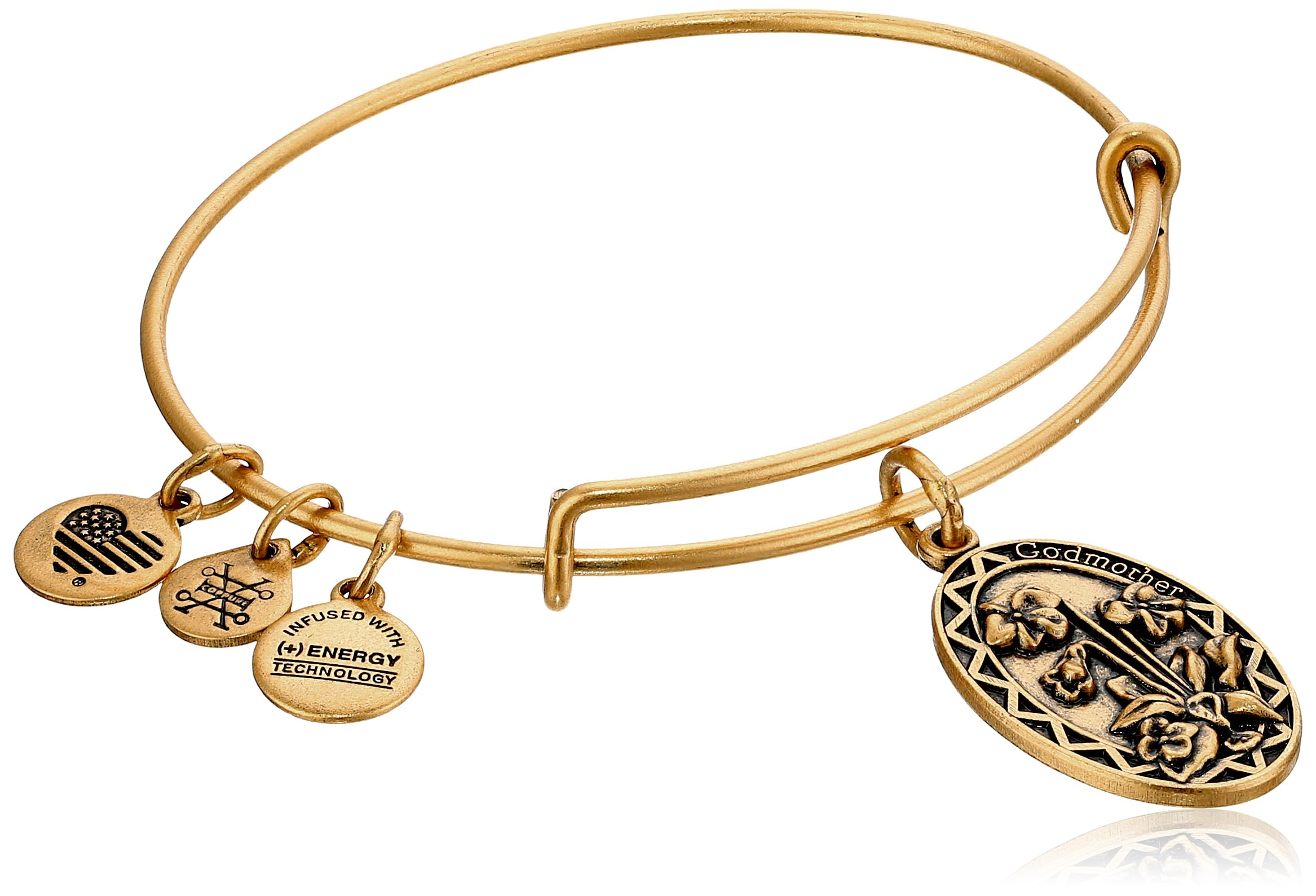 Alex and Ani Godmother Rafaelian Gold Bangle Bracelet