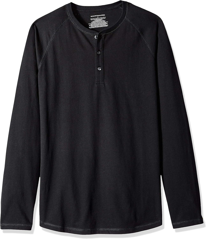 vestibilit/à standard stile Henley Essentials Maglietta a maniche lunghe da uomo