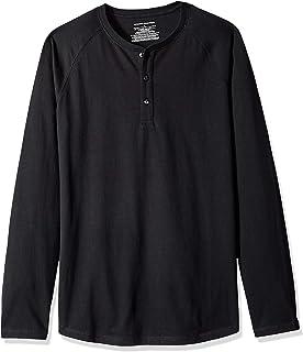 9458551a Hanes Men's Long-Sleeve Beefy Henley T-Shirt at Amazon Men's ...