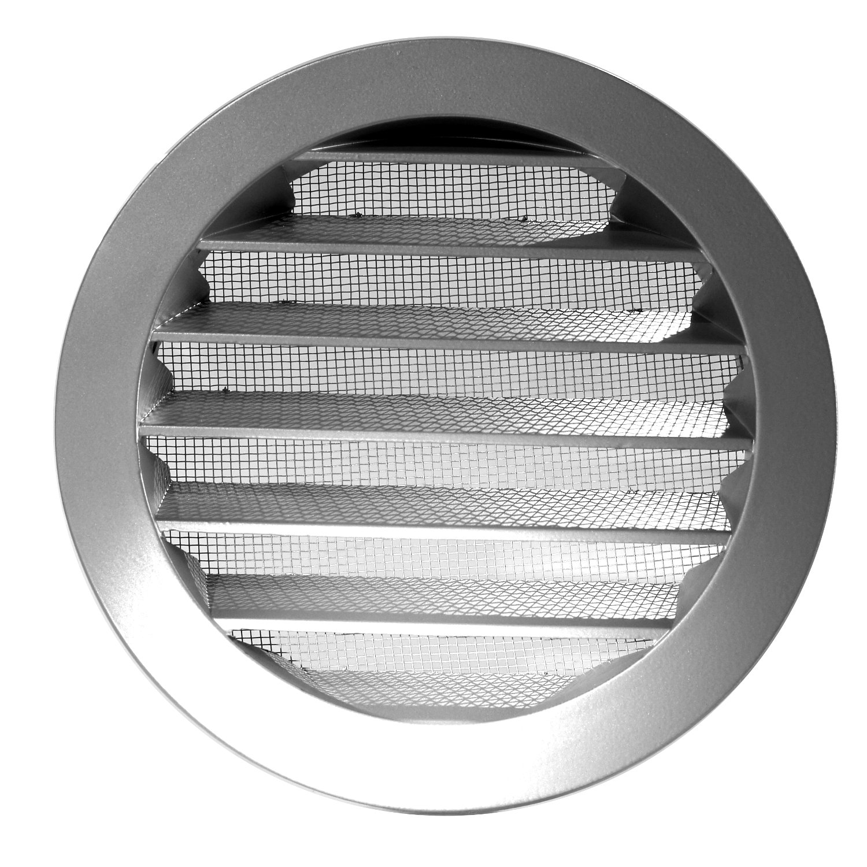 Klimapartner WSGG 125 - Griglia Ventilazione Alluminio Rotondo