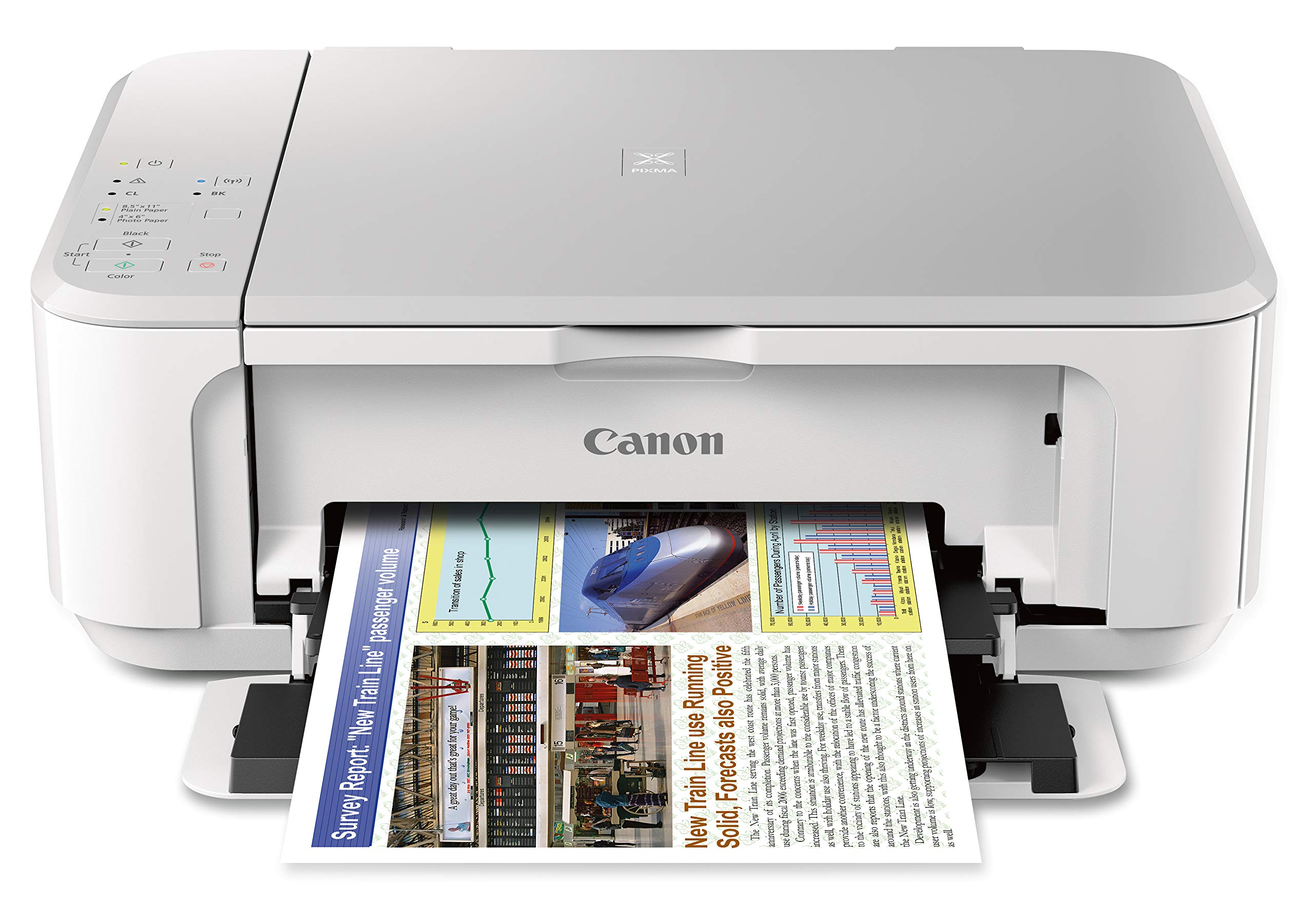 Canon PIXMA MG3620 Wireless All-In-One Color Inkjet Printer with Mobile and Tablet Printing, White by Canon (Image #1)