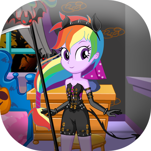 Dress up pony on halloween -