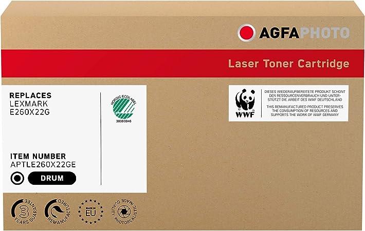 Agfaphoto Aptle260x22ge Toner Für Lexmark E260 Opc 30000 Seiten Bürobedarf Schreibwaren