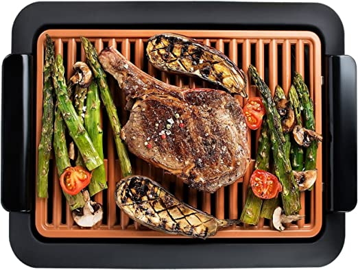 Tooltime BBQ Grill with Water Reservoir to Reduce Smoke and Odours 2000W Electric Portable Indoor Barbecue