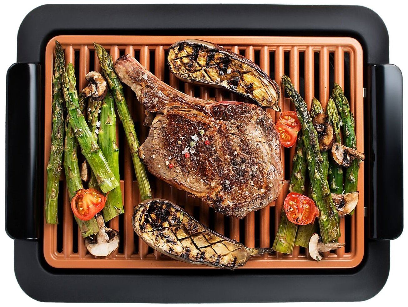 GOTHAM STEEL Smokeless Electric Grill, Portable and Nonstick As Seen On TV (Original) by GOTHAM STEEL