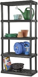 product image for Sterilite 01553V01 5 Shelf Unit, Flat Gray Shelves & Legs, 1-Pack