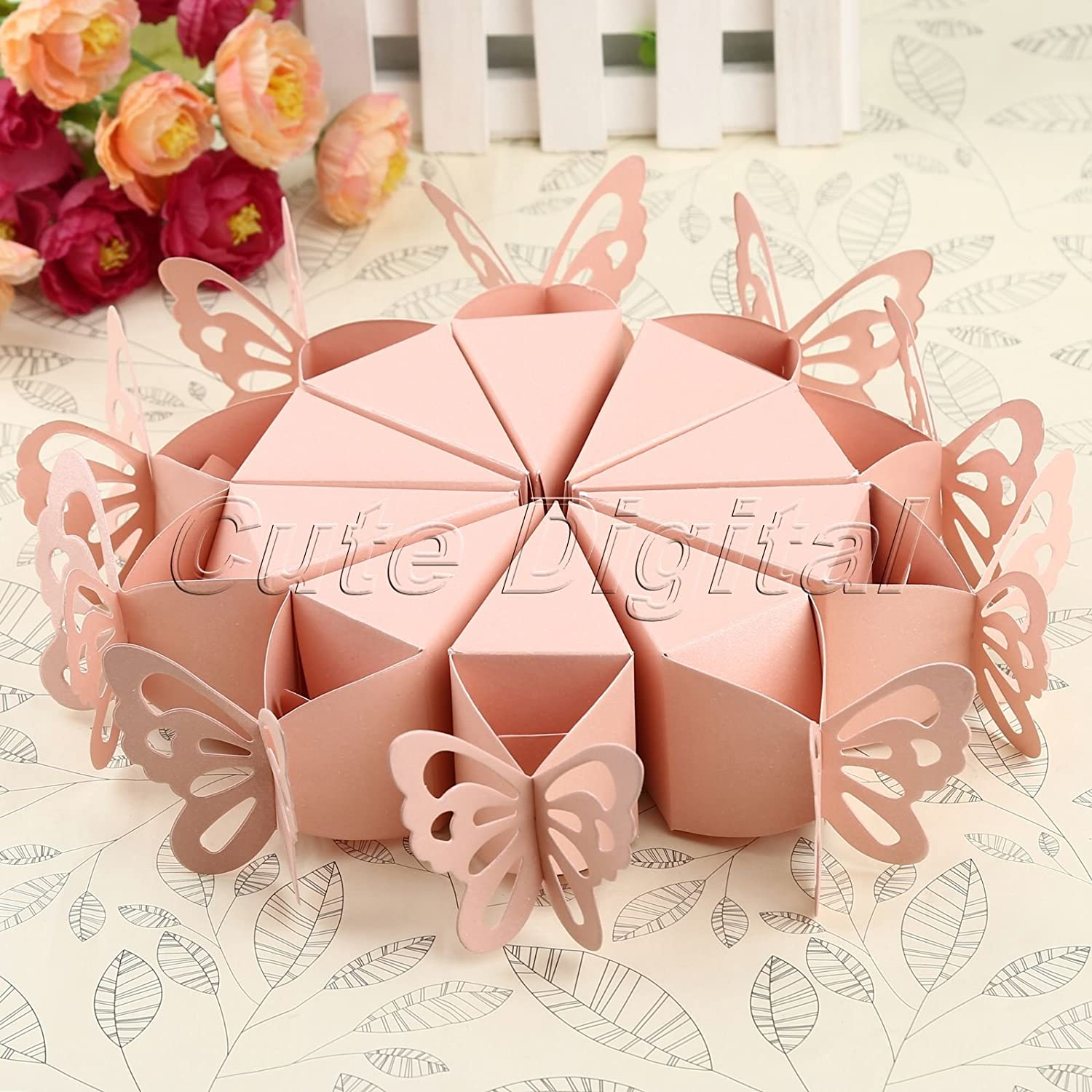 Wrone Bombo (TM) 10pcs/pack Pink White Butterfly S ¨ ¹? Grip Jar ...