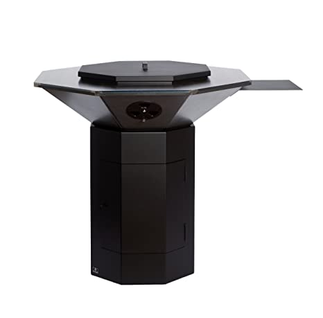 Modelo octagonal barbacoa de acero al aire libre Bio-Blaze para usar como tazón de