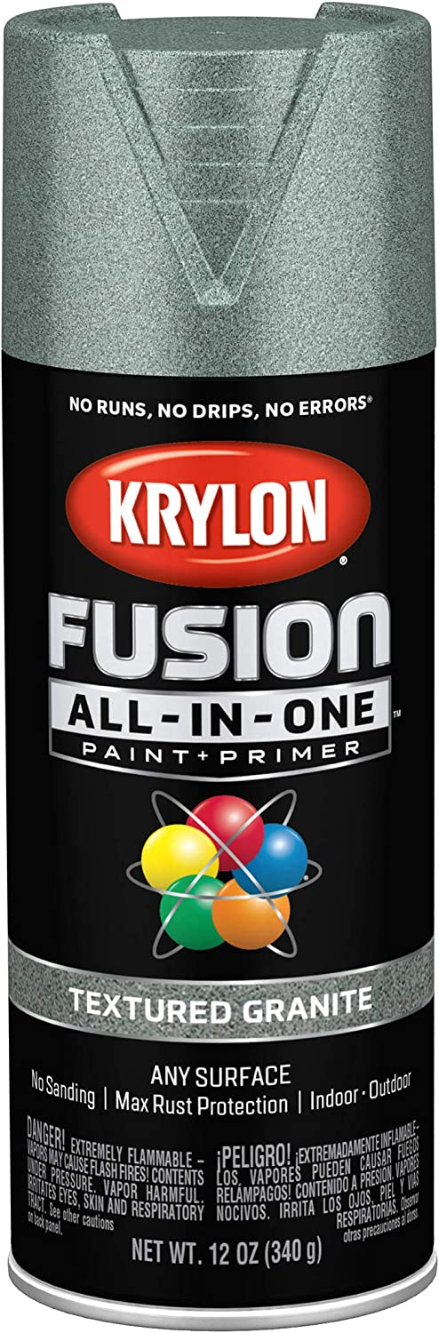 Krylon K02780007 Fusion All-In-One spray-paints, Granite
