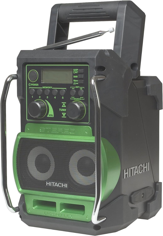 mit DAB und Bluetooth Gr/ün schnurlos 1/St/ück Hitachi UR18DSDL Baustellenradio 240/V