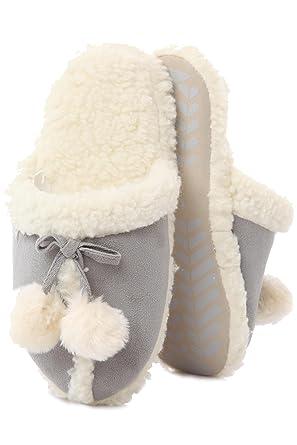 Style Mouton Peau 1 Mule Mesdames Effet Paire De Totes Pom 4qzYnw4FI