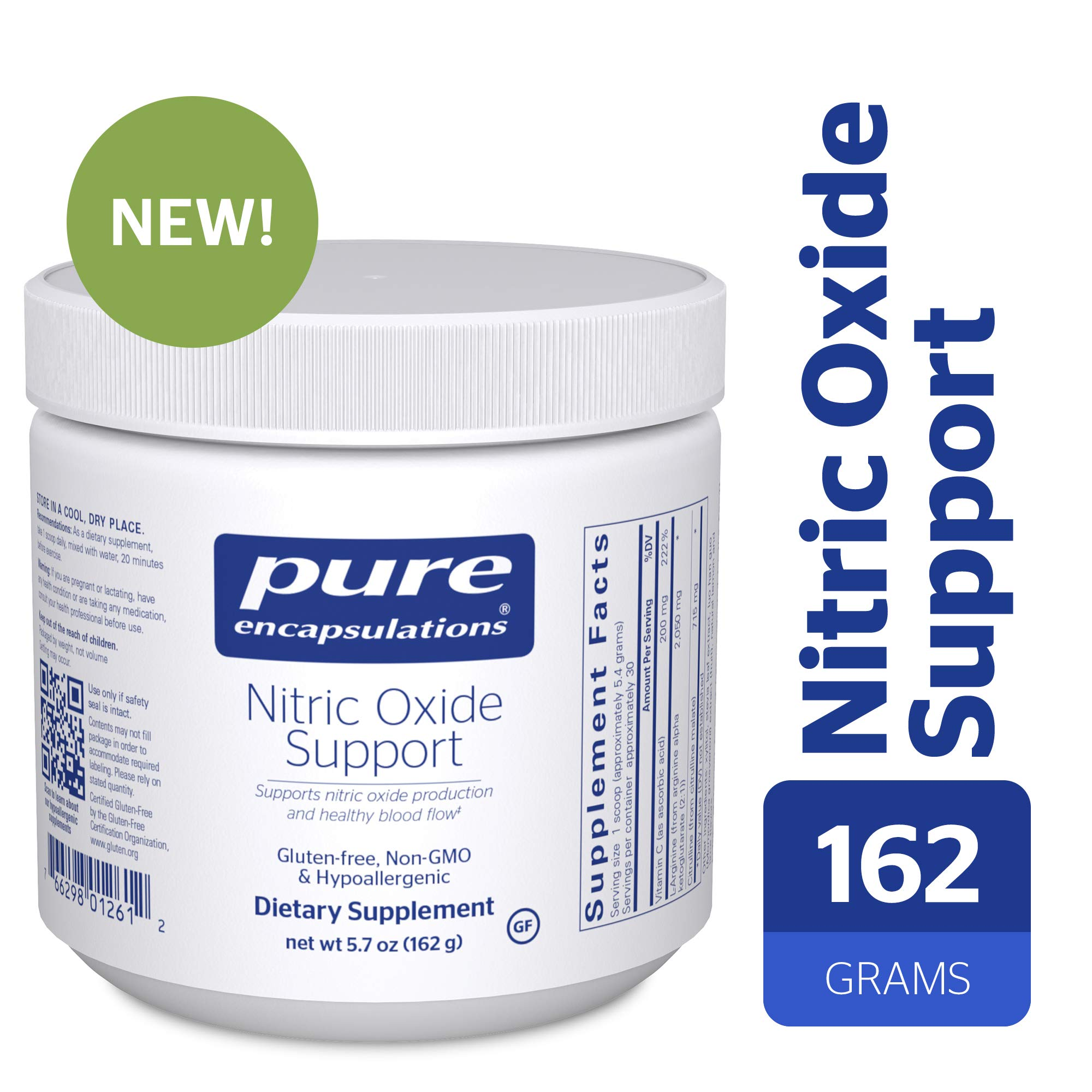Pure Encapsulations - Nitric Oxide Support - Supports Healthy Oxygen Circulation and Promotes Energy Production Within Muscles - 162 Grams by Pure Encapsulations