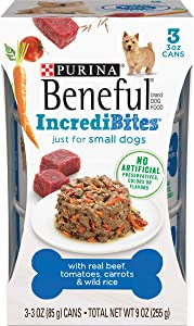Purina Beneful Small Breed Wet Dog Food, IncrediBites With Real Beef - (8 Packs of 3) 3 oz. Cans