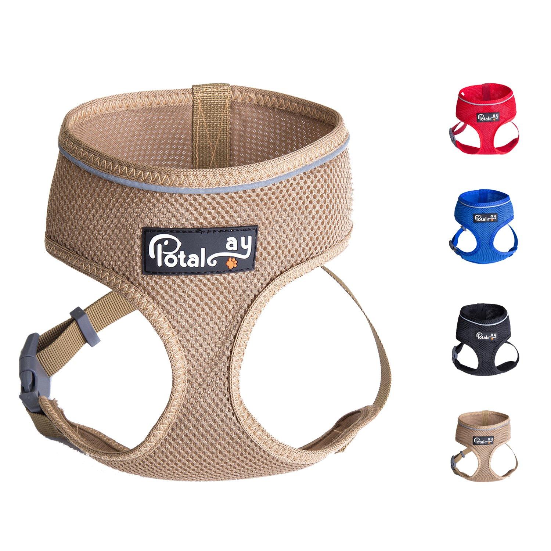 Khaki XL Khaki XL Potalay Maximum Comfort & Control Dog Harness 4-48 lbs; No Pull & No Choke Design, Luxurious Padded Vest, Eco-Friendly, for Puppies and Dogs Khaki XL