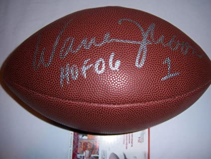 a00404bbb Warren Moon Signed Football - JSA Certified - Autographed Footballs ...