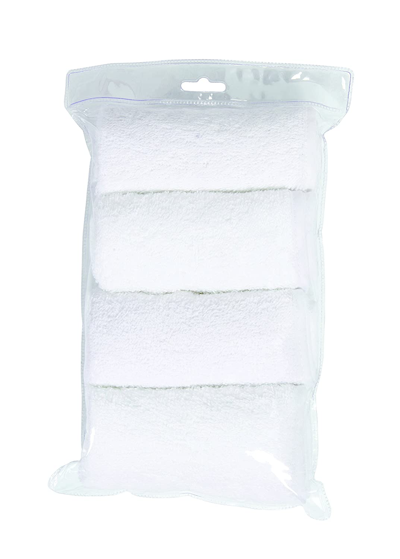 paquete de 4 blanco C/ándide Funda de Toalla para Colch/ón Cambiador