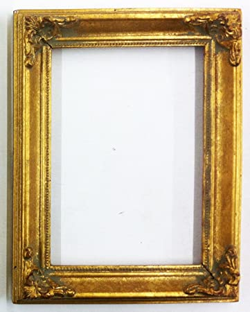 vintage picture frame ornate metallic baroque wooden frames 7 x 9 shabby