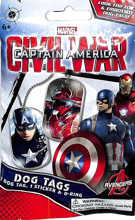 Amazoncom Marvel Captain America Civil War Dog Tag 6 Packs Toys