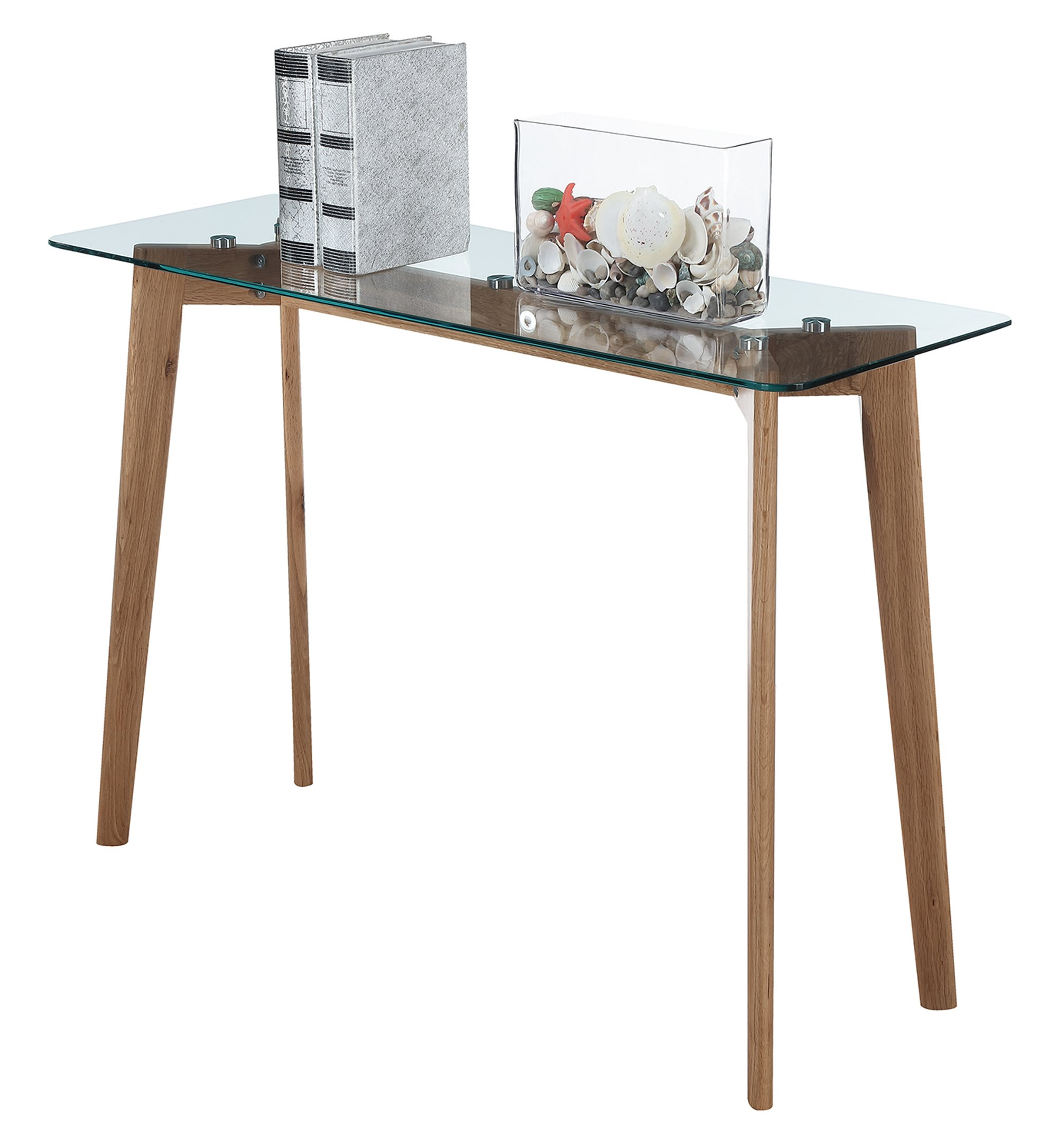 Convenience Concepts Clearview Console Table, Natural / Glass by Convenience Concepts (Image #2)