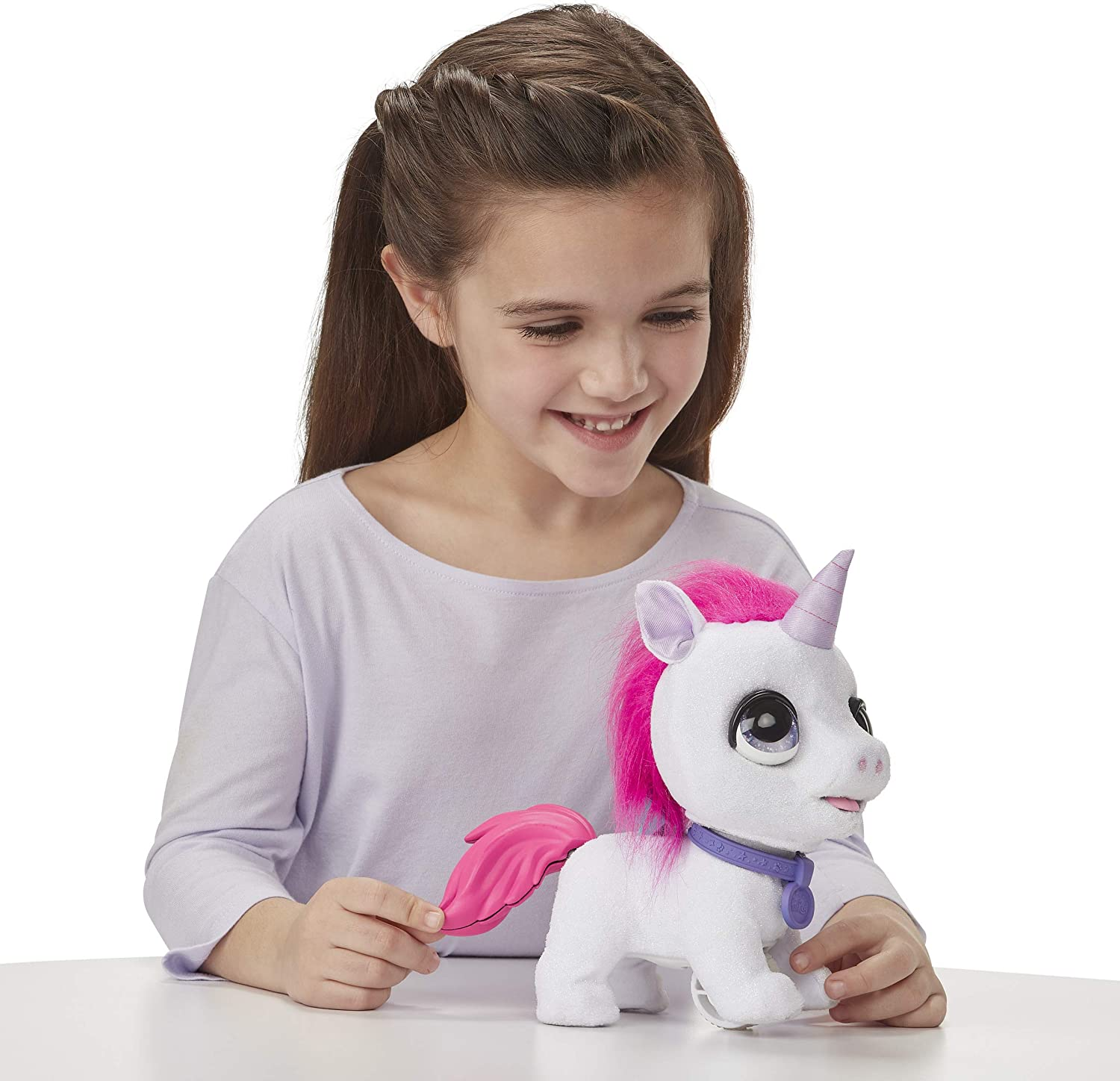 Neuf Walkalots Big Wags Licorne FurReal Friends Peluche int/éractive