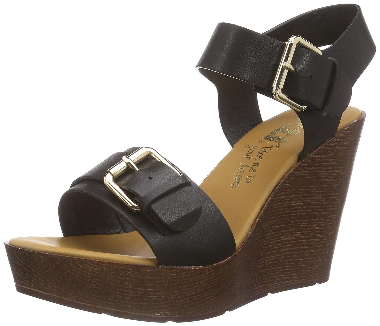 Black sandals ebay uk - Image Is Loading 5 Uk Black Schwarz Negro Xti 45899 Women