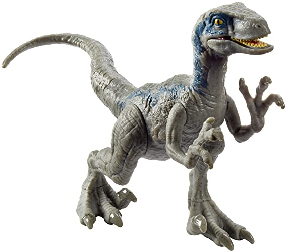 Jurassic World Attack Pack Dinosaurio Velocirraptor de Ataque, Color Azul (Mattel FPF12): Amazon.es: Juguetes y juegos