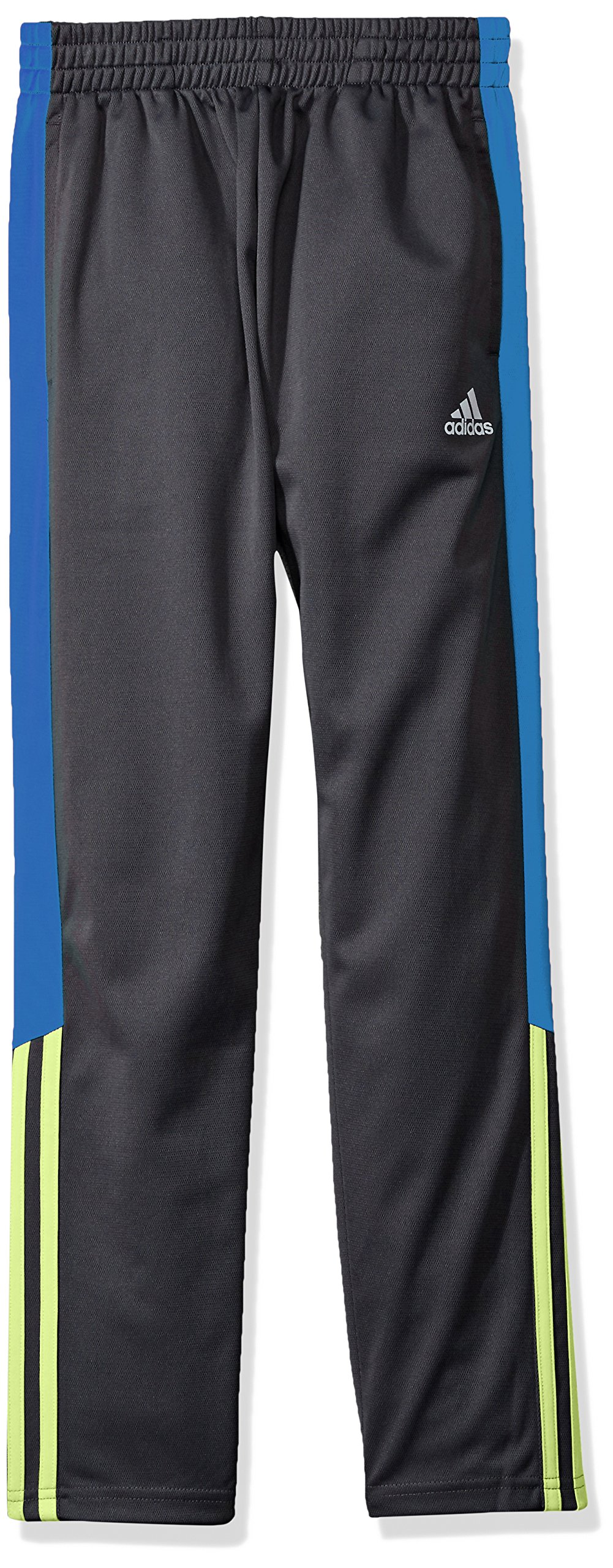 adidas Toddler Boys' Tricot Pant, Grey Heather Body Solar Yellow, 2T