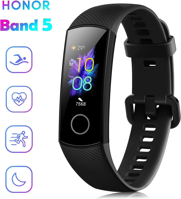 Honor Band 5 Fitness Tracker Smartwatch impermeable 50 m 0,95 pantalla AMOLED a color pod/ómetro y notificaciones de mensajer/ía Smartband