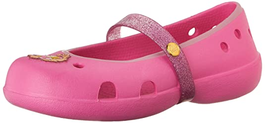 Crocs Keeley Disney Princess Flat K Girls Mary Jane Girls' Shoes at amazon