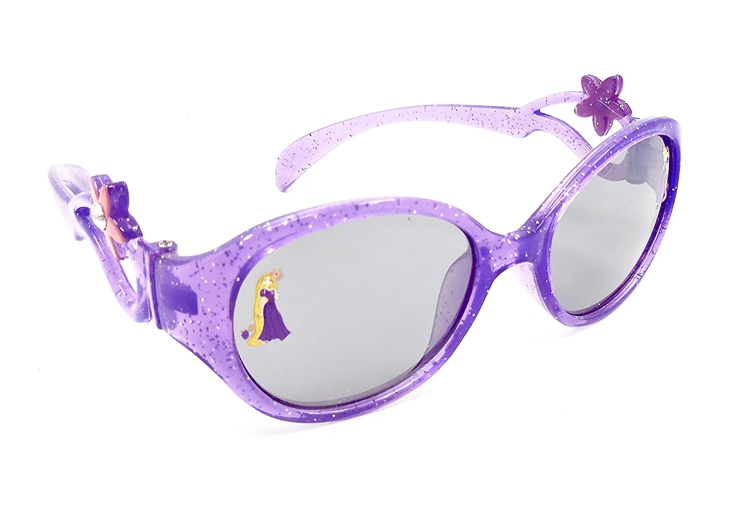 Disney Rapunzel Sunglasses for Girls, sparkle Purple, pink Flower