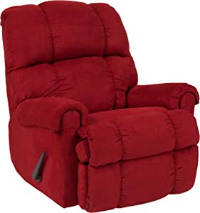 Flash Furniture Sierra Cardinal Microfiber Rocker Recliner