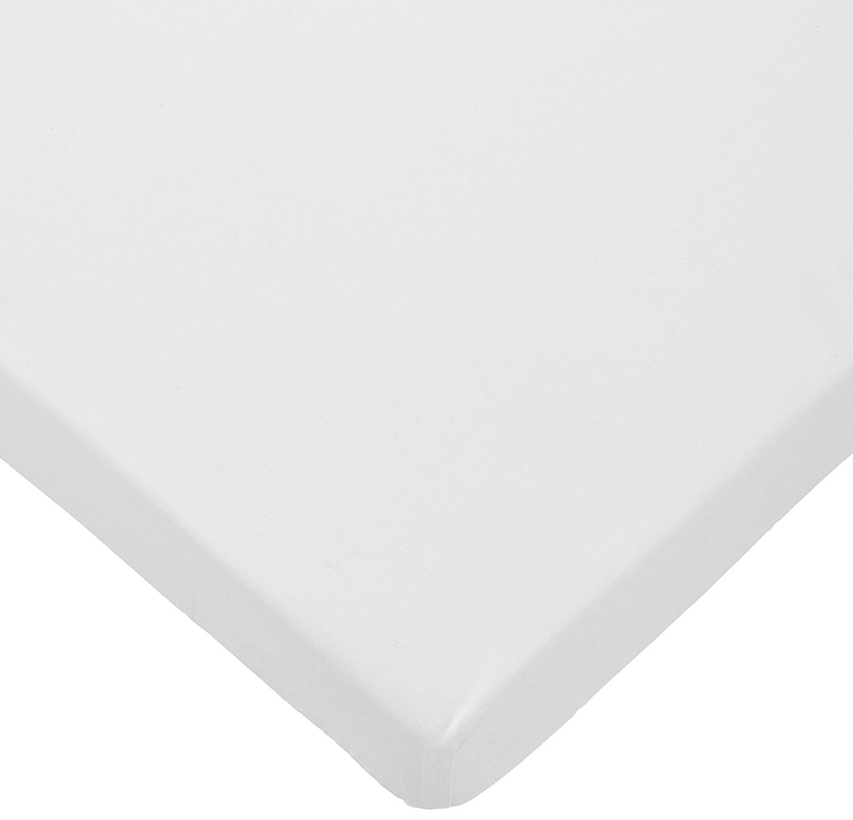 Colección Rosabel Damaris - Juego de sábanas para cuna, color blanco y celeste: Amazon.es: Bebé
