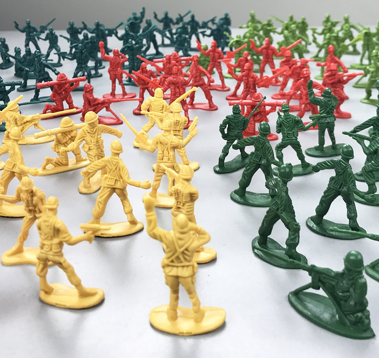 Bulk Kids Toy Party Favors Supplies Liberty Imports 12 Tubes of Action Figures Army Men Soldiers in Mini Buckets
